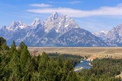 Tetons grand et rivière Snake, Wyoming Image libre de droits