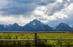 Tetons grande majestoso Fotos de Stock