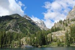 Tetons grandes do lago jenny Imagem de Stock