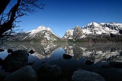 Tetons grands de lac de bourrique Image stock