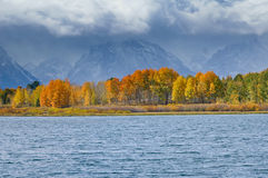 Tetons on a moody day Royalty Free Stock Image