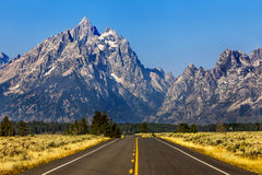 Tetons mountain Stock Photo