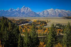 Snake River, Tetons stock images