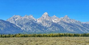 Tetons National Park. View of the Tetons on the Wyoming side, mid-September 2014.  Absolutely beautiful Stock Images