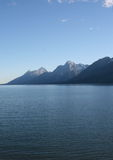Tetons Over the Lake Stock Photo