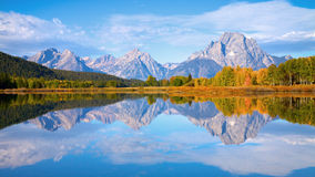 Tetons at Oxbow Bend stock photos