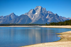 Tetons at Oxbow Bend Stock Photography