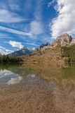 Tetons Reflected in String Lake Royalty Free Stock Photography