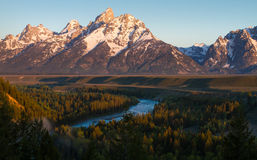 Tetons and Snake River Stock Image