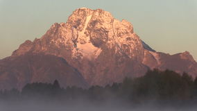 Tetons Sunrise stock footage
