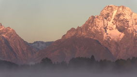 Tetons Sunrise Pan stock footage