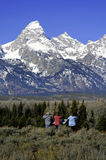 Tetons and Tourists Stock Photos