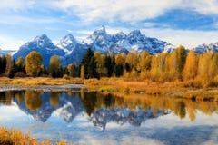 Tetonvallei in de herfst stock foto