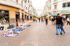 Tetouan, Morocco. SEP 11, 2015: Architecture of Tetouan, a city in northern Morocco. Tetouan is one of the two major ports of Morocco on the Mediterranean Sea royalty free stock photos