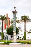 Tetouan, Morocco. SEP 11, 2015: Architecture of Tetouan, a city in northern Morocco. Tetouan is one of the two major ports of Morocco on the Mediterranean Sea stock images