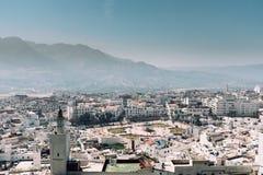 Tetouan stadsmitt, Marocko, Afrika Royaltyfri Fotografi