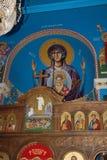 Tetovo-Lesok/Macedonia del Nord - 27 luglio 2008: Vista interna della chiesa della st Atanasij s Leshok-Tetovo, Macedonia del Nor immagine stock