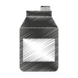 tetra pak product isolated icon Royalty Free Stock Photography