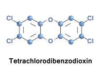 Tetrachlorodibenzo p dioxin herbicide stock illustration