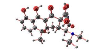 Tetracyclinmolekülstruktur lokalisiert auf Weiß stock abbildung