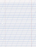 Tetrad sheet. Diagonal line for calligraphy with realistic holes for stitching in the vector Royalty Free Stock Image