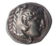 Tetradrachm of Alexander the Great late IV century BC Royalty Free Stock Photo