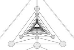 Tetraeder DNA-Molekül-Struktur-Vektor Stockfotografie