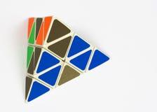 Tetraeder-Puzzlespiel Stockfotografie