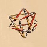 Tetraedro della stella delle spazzole Immagini Stock Libere da Diritti