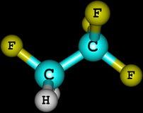 Tetrafluoroethane molecule isolated on black Royalty Free Stock Photography