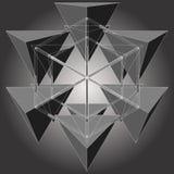Tetrageder zes maakt Hexagon Geometrische Vector Stock Foto's