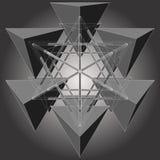 Tetrageder zes maakt tot Ster Geometrische Vector Royalty-vrije Stock Afbeeldingen
