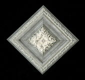 Tetrahedral τετραγωνική διακοσμητική ροζέτα των ξύλινων πλαισιώνοντας λουρίδων Στοκ Εικόνα