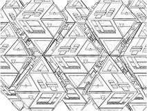 Tetrahedron Constructions Structure Vector Stock Image