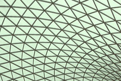 Tetrahedron mesh. A triangular mesh roof, truss Stock Images