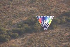 Tetrahedron shaped hot air balloon Royalty Free Stock Images