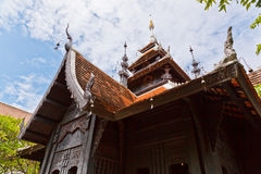 The Tetrahedron Vihara. The Lanna Style Tetrahedron Vihara, Chedi Luang Temple, Chiang Mai Province, Thailand Royalty Free Stock Photo
