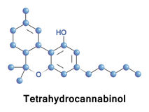 Tetrahydrocannabinol psychoactive drug Stock Photo