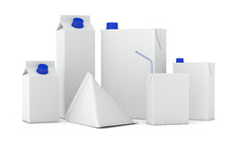 Tetra Pak packages Royalty Free Stock Photography