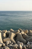 Tetrapod breakwater Royalty Free Stock Image