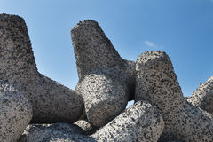 Tetrapod Breakwater Royalty Free Stock Photo