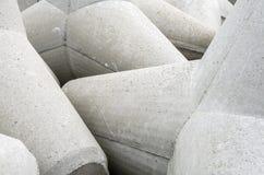 Tetrapode concreto del frangiflutti in dettaglio Fotografia Stock Libera da Diritti