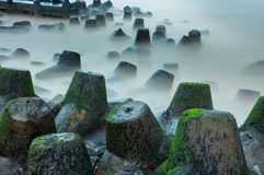 Tetrapods Barrier Royalty Free Stock Images