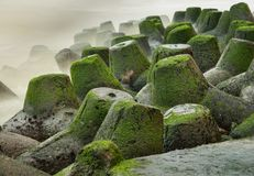 Tetrapods Barrier Wall Stock Photos
