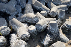 Tetrapods on the beach Stock Photos