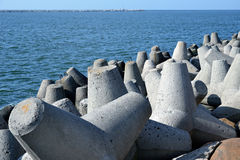 Tetrapods concretos Imagem de Stock Royalty Free