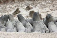 Tetrapods van beton beschermt de kust van Sylt Royalty-vrije Stock Afbeeldingen