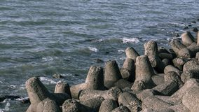 Tetrapodsen av Marine Drive royaltyfri bild