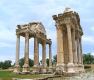 Tetrapylon. The entrance to Aphrodite's temple, Aphrodisias, Turkey Royalty Free Stock Photo