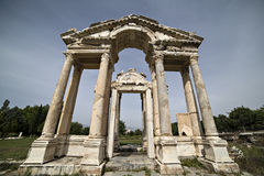 Tetrapylon in Aphrodisias, Aydin, Turkey Stock Photography